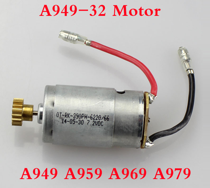 Original Wltoys motor  WLtoys A949 A959 A969 A979 1:18 4WD RC Car Spare Parts 390 Motor A949-32 Free Shipping wltoys rc car spare parts a959 b 01 1 18
