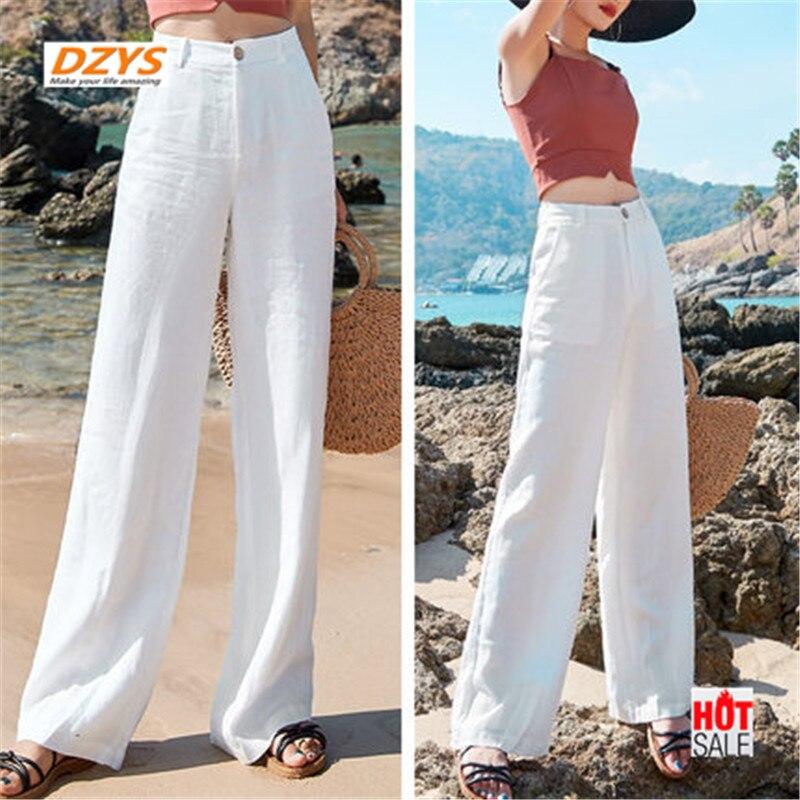 Jean taille haute femme ultra mince neuf minutes été skinny ample pantalon à jambes larges long pantalon droit tube - 3