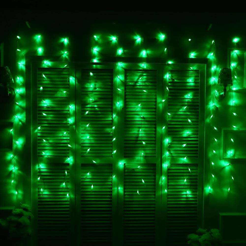 2 м фея светодиодные занавес огни новогодняя гирлянда новый год зеленая ива строка украшения свет для сада праздник ну вечеринку огни