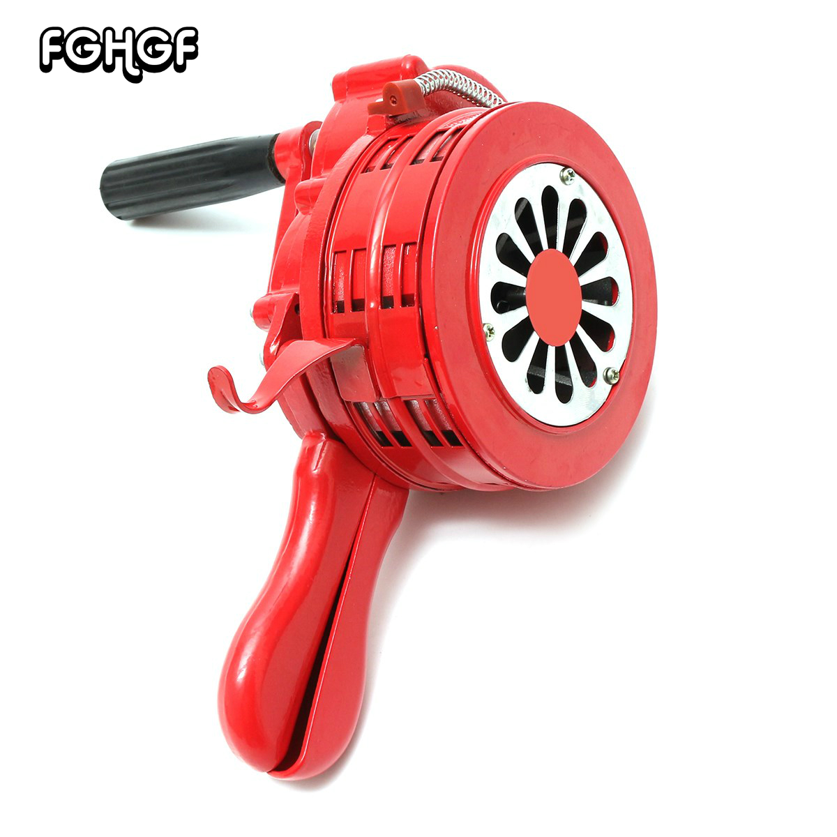 Hot Sale 4.5 Red Aluminium Alloy Handheld Manual Operated Security Alarm Air Raid Siren Portable Safety Alarm Siren Red ac110v 160db motor driven air raid siren metal horn industry boat alarm