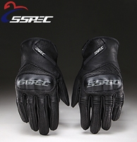 SSPEC Motorcycle Gloves Essential Leather GLOVES Riding Racing CE Motorcycle Road Bike Gloves