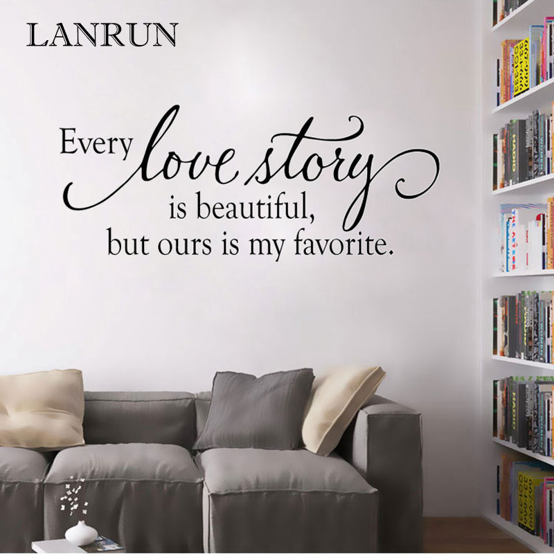 Bedroom Vinyl Wall Art Sticker Decal Mural Love Story Quote
