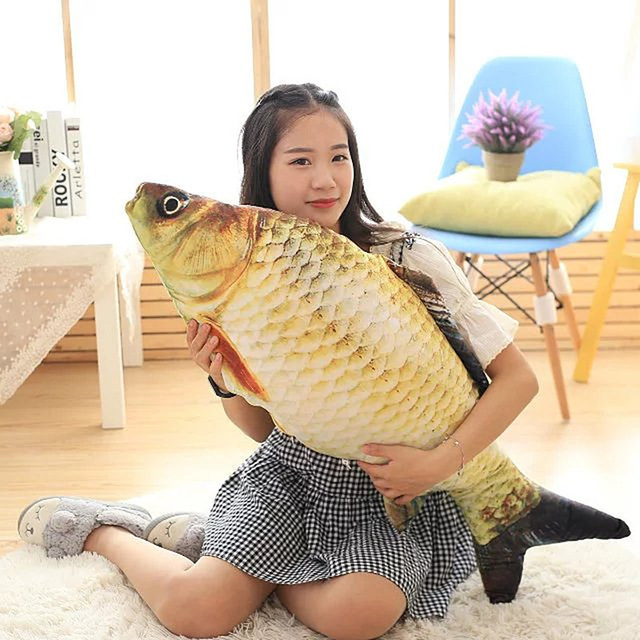 Big Fish Shape Decorative Cushion Throw Pillow with Inner DUVETS Home Decor Cartoon Sofa Toys Sleeping Pillow