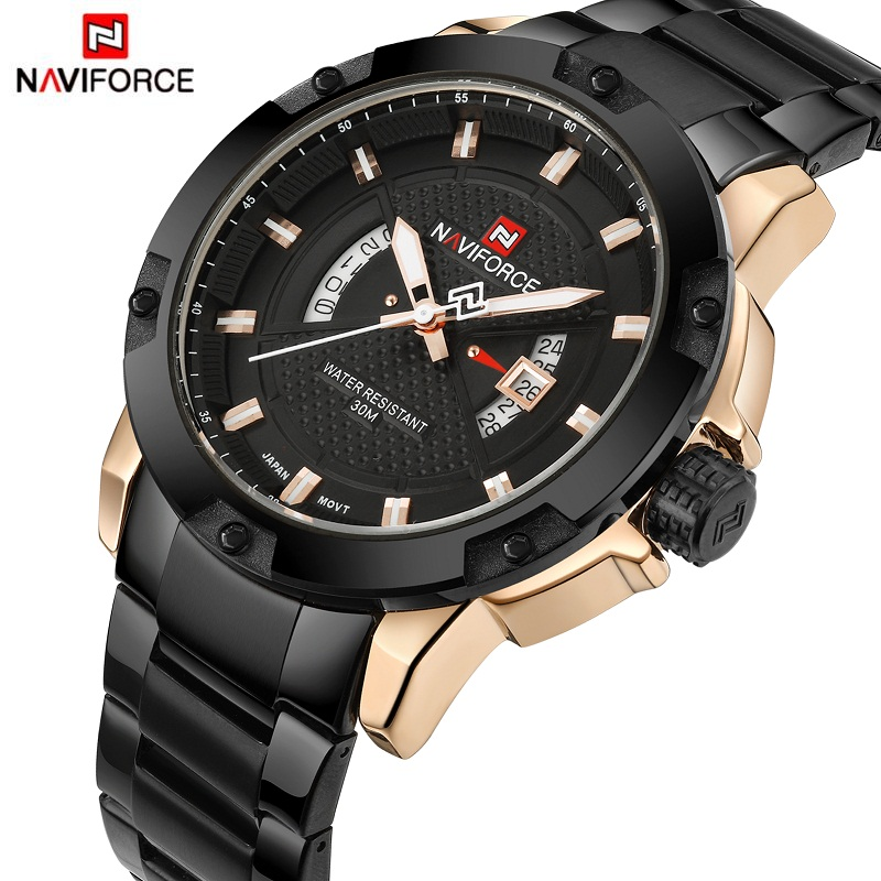 2017 Men Watch Luxury Brand NAVIFORCE Man Sports Military Watches Men's  Quartz Date Clock Fashion Wrist Watch Relogio Masculino new listing men watch luxury brand watches quartz clock fashion leather belts watch cheap sports wristwatch relogio male gift