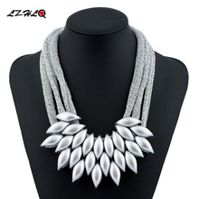 Buy plastic pendant and get free shipping on aliexpress lzhlq new 2017 hot pendant necklace women trendy jewelry cloth woven chain statement necklaces plastic pendants mozeypictures Gallery