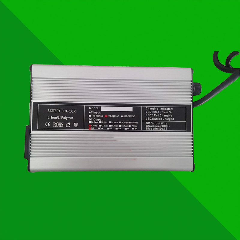 High quality 36V 2A aluminum case liMn2o4 or LMC lithium ion battery charger suitable for electric
