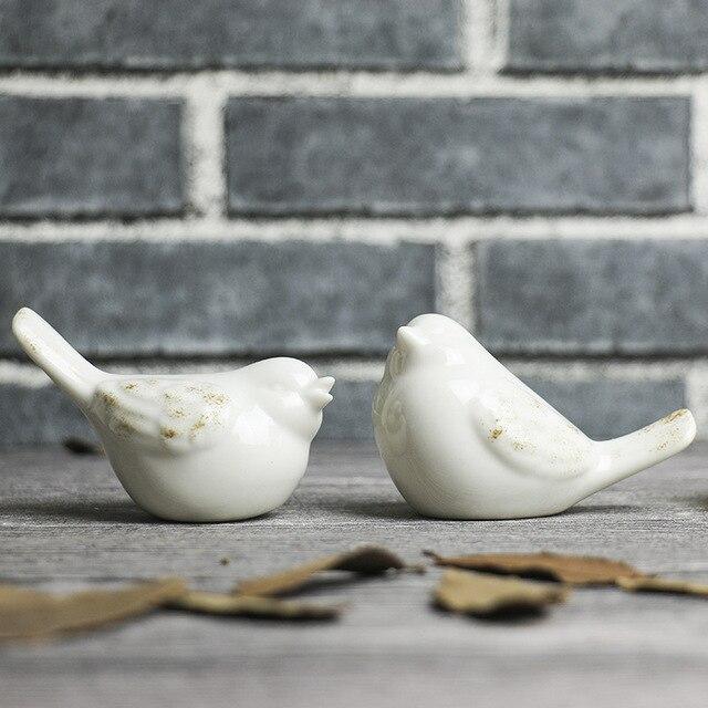 Современный минималистский Скандинавский стиль керамические украшения птица украшения Дома ремесел керамические Фигурки птиц
