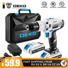 DEKO GCD18DU3 Electric Screwdriver Cordless Drill Impact Drill Power Driver 18-Volt DC Lithium-Ion Battery 13mm 50N.m 2-Speed