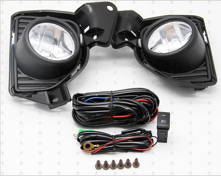 ФОТО Hireno Car Fog lights Lamp Cable Harness Halogen light switch control Set for Toyota Hiace 2014-16 2Pcs