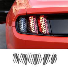 MOPAI Car Exterior DecorationAccessories Rear Tail light Lamp honeycomb Stickers Fit For Ford Mustang 2015 Up Car Styling