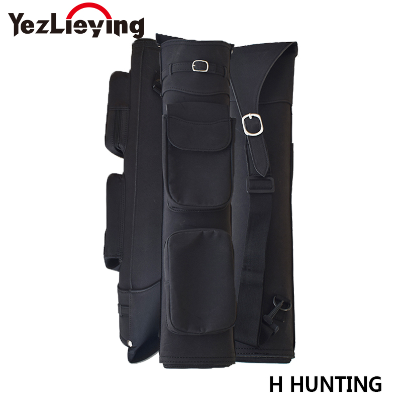 High Quality Arrow Quiver Polar Fleece 55X12.5 cm in Black Arrow Bag for Archery Hunting Shooting outdoor camouflage archery hunting arrow quiver water resistant archery quiver holder caza arrows bow quiver bag with zipper