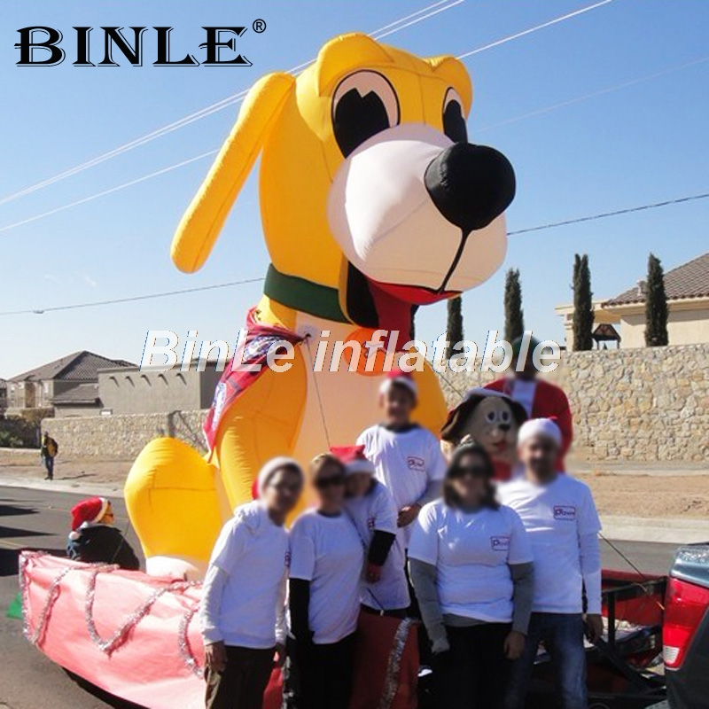 все цены на Customized yellow animated giant inflatable dog animal cartoon best toy for promotion
