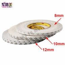 Nieuwe 50M/Roll 8Mm 10Mm 12Mm 3M Plakband Dubbelzijdige Tape Voor 3528 5050 Ws2811 Led Strips Tape