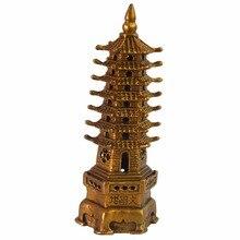 Feng Shui Brass Wen Chang 7 Level Pagoda