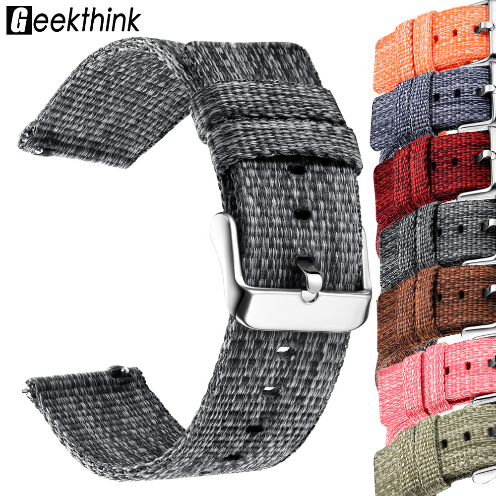 Nylon Watchband For Samsung Galaxy Gear S3 S2 Class Soft Breathable Replacement Strap Sport Loop 22mm 20mm Universal Band