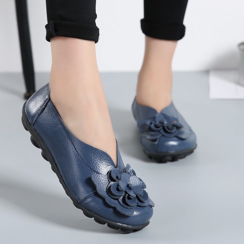 Women Flats 2018 Spring Summer Casual Shoes Ladies Flats Female Flower Solid Fashion Flat Basic Soft Women Shoes Footwear DBT701 gogc 2018 new floral denim slipony women breathable shallow shoes footwear flat shoes women fashion sneakers women summer spring
