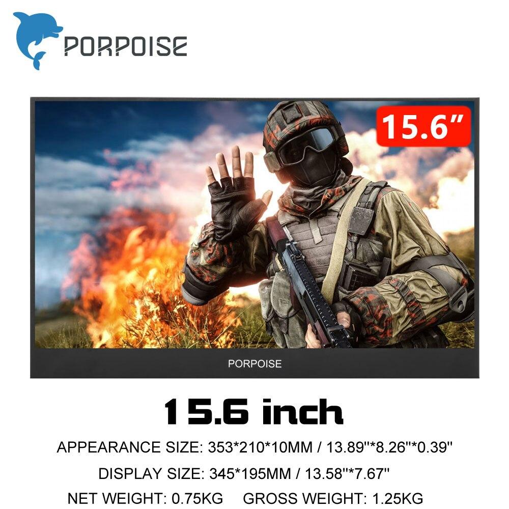 13,3 pulgadasportátil moniteur de ordenador PC HDMI PS3 PS4 Xbo x360 1080 P IPS LCD LED 15,6