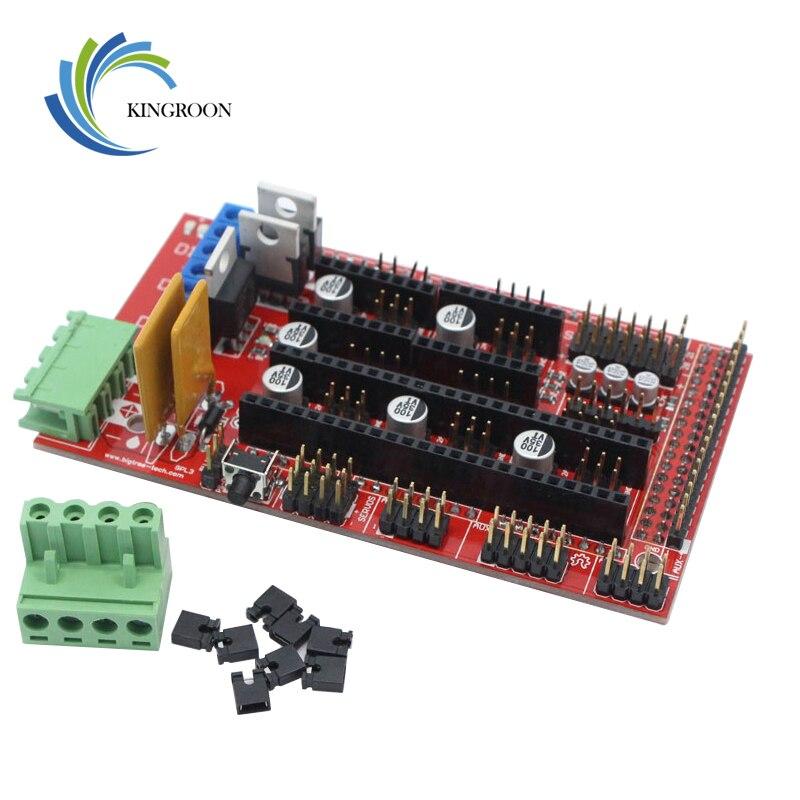 Rampas 1,4 Control Panel de la Junta de parte de la placa base 3D impresoras partes Escudo Rojo Negro controles Ramps1.4 juntas accesorios KINGROON