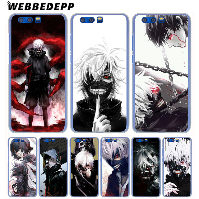 new styles 4c45c c97e3 US $1.88 6% OFF|WEBBEDEPP New Tokyo ghoul Anime Phone Hard Case for Huawei  Honor Play 9 8 8C 10 Lite 8X 7X 6A 7A Pro 2GB 3GB Cover-in Half-wrapped ...