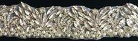 Handmade crystal rhinestone chain trimming,wedding bridal DIY waist belt decoration