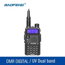Oryginalny DM-5R Baofeng Walkie Talkie DMR Digitall i Analogowe UHF VHF 136-174 400-480 Mhz 2000 mAh 128CH Radio Nadawczo-odbiorcze Podręczny