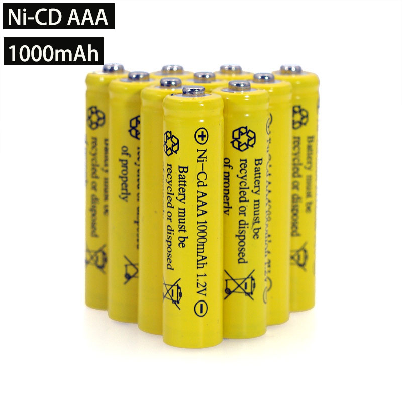 NI-CD AAA Batteries 1.2v Rechargeable Nicd Battery 1.2V Ni-Cd Aaa For Electric Remote Control Car Toy RC Ues