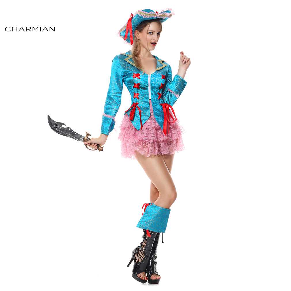 Novelty & Special Use Women's Costumes 2019 Fashion Charmian Womens Deluxe Pirate Caribbean Halloween Costume Adult Anime Cosplay Carnival Fantasias Fancy Dress Cosplay Costumes Making Things Convenient For The People
