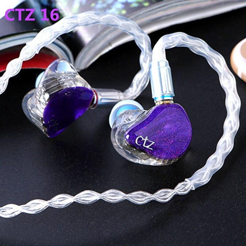 Mais novo CTZ 32BA Unilateral 16BA in Ear Fone de Ouvido Feitos de Armadura Balanceada Em Volta Da Orelha Fone de Ouvido Com Plugue de 0.78mm 2PIN fone de ouvido