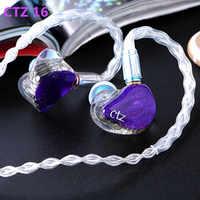 Newest CTZ 32BA Unilateral 16BA in Ear Earphone Custom Made Balanced Armature Around Ear Earphone With 0.78mm 2PIN Plug Earphone