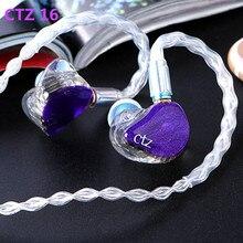Yeni CTZ 32BA tek taraflı 16BA kulak kulaklık Custom Made dengeli armatür kulak kulaklık 0.78mm 2PIN fiş kulaklık