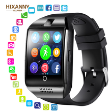 HIXANNY 2019 new Smart Uhr Mit Kamera, Q18 Bluetooth Smartwatch SIM TF Karte Slot Fitness Activity Tracker Sport FOr Android
