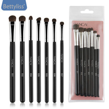 Pro 7Pcs Makeup Brushes Set Blush Eyeshadow Eyeliner Lip Powder Foundation Make up Brush Beauty Cosmetic Tools Maquiagem pro fan brush 7pcs bamboo handle makeup eyeshadow blush concealer brushes set powder foundation facial multifunction beauty tool