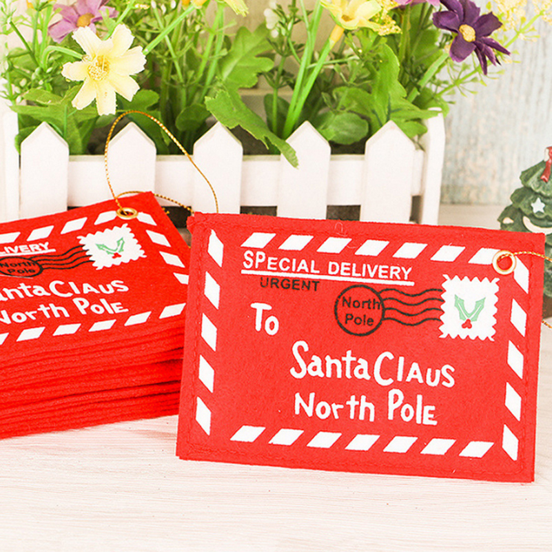 5Pcs Red Christmas Envelope Paper Christmas Greeting Cards Candy Bag Perfect Christmas G ...