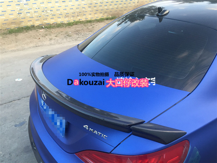 stock Fit for <font><b>Mercedes</b></font>-Benz <font><b>CLA</b></font> <font><b>W117</b></font> CLA260 CLA45 Piecha carbon fiber rear spoiler rear wing image