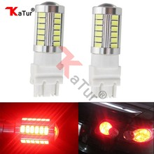 2 Pz 3157 Led Rosso Lampade per Auto 3047 3057 3155 5630-SMD 900 Lumen Super Bright DC12V 3.6 W LED Disabilita Freno Coda Lampadine da Katur(China)