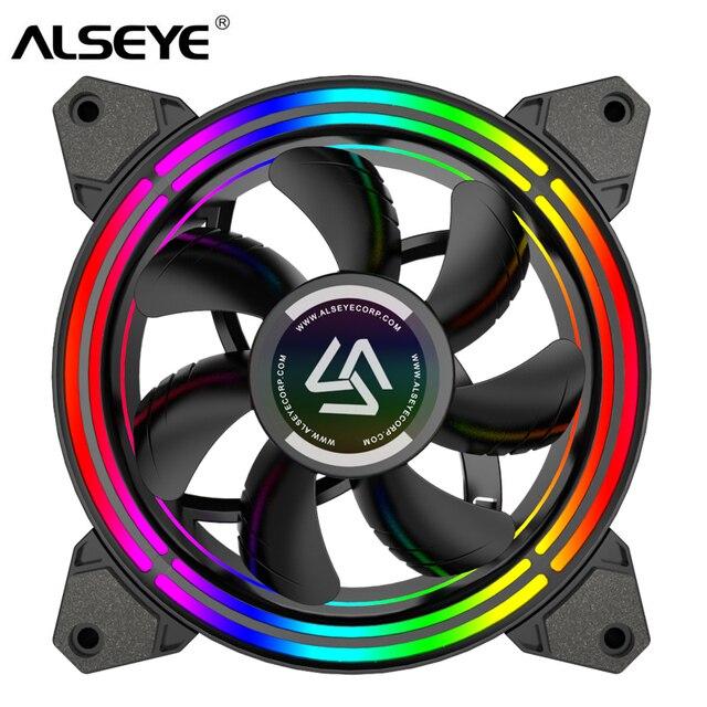 ALSEYE PC Quạt 4 pin PWM 120mm Quạt Làm Mát Mát Tĩnh RGB Quạt Máy Tính cho Ốp Lưng và Quạt CPU thay thế