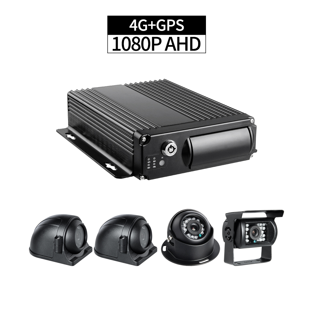 4G+GPS 4CH 1080P AHD Audio/Video Recorder Remote Monitoring by PC/Phone GPS Positioning G-sensor Delayed Shutdown for Truck Bus4G+GPS 4CH 1080P AHD Audio/Video Recorder Remote Monitoring by PC/Phone GPS Positioning G-sensor Delayed Shutdown for Truck Bus
