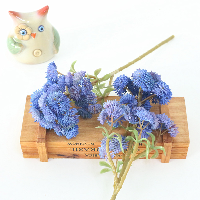Flone Soft Rubber Artificial Rice Tsai Ball Fruit Hydrangea Simulation Fake Flower Real Touch Succulent Plant Party Home Decor