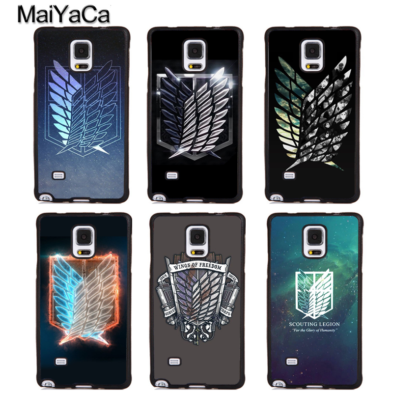 MaiYaCa Attack on Titan Wings Of Liberty Flag Soft Phone Cover For Samsung Galaxy S5 S6 S7 S8 S9 edge plus Note 4 5 8 Back Case