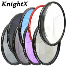 лучшая цена KnightX 49MM 52MM 55MM 58MM 62MM 67MM 72 77MM nd filter for Canon eos 7d 60d camera Nikon d3300 d5100 Sony set photo Lens color