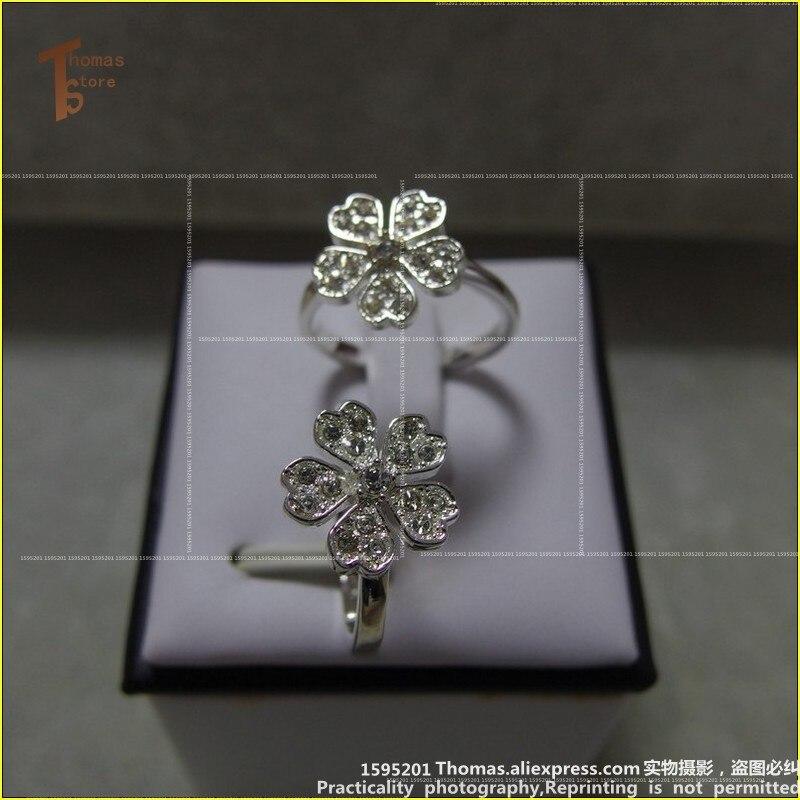 RS1237 горячая Распродажа посеребренный Кольца маленький цветок Белый циркония открыть рот женщины Glam и стиль душа Кольца ювелирные изделия