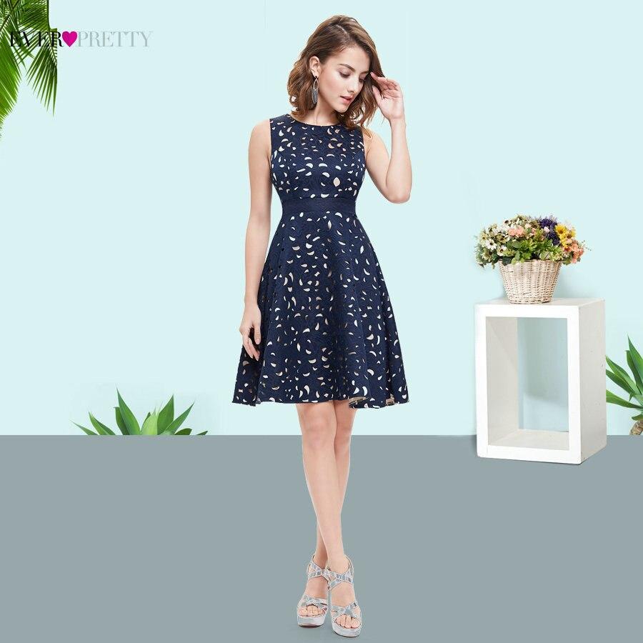 Elegant Navy Blue Cocktail Dress