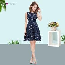 Elegant Mini Navy Blue Lady Cocktail Dress