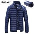 Uwback 2017 Nuevo Invierno Ultralight Hombres 90% de Pato Blanco Abajo chaquetas de Los Hombres Abrigo de Invierno de Down Parkas Plus Tamaño 5XL prendas de Vestir Exteriores CAA128