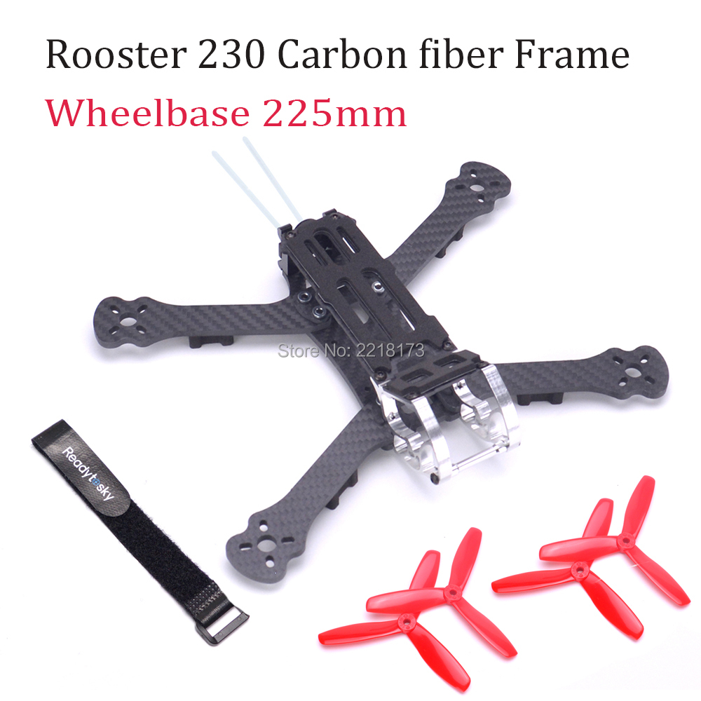 Rooster 230 225mm 5 FPV Racing Drone Quadcopter Frame 5 Inch FPV Freestyle Frame 5045 Propeller Red For PUDA Armattan