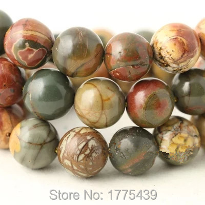 Free Shipping Wholesale 4 6 8 10 12mm Natural Colorful Picasso loose stone jewelry Round Beads Natural agat Beads DIY