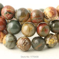 Free Shipping Wholesale 4 6 8 10 12mm Natural Colorful Picasso loose stone jewelry Round Beads Natural agate Beads DIY