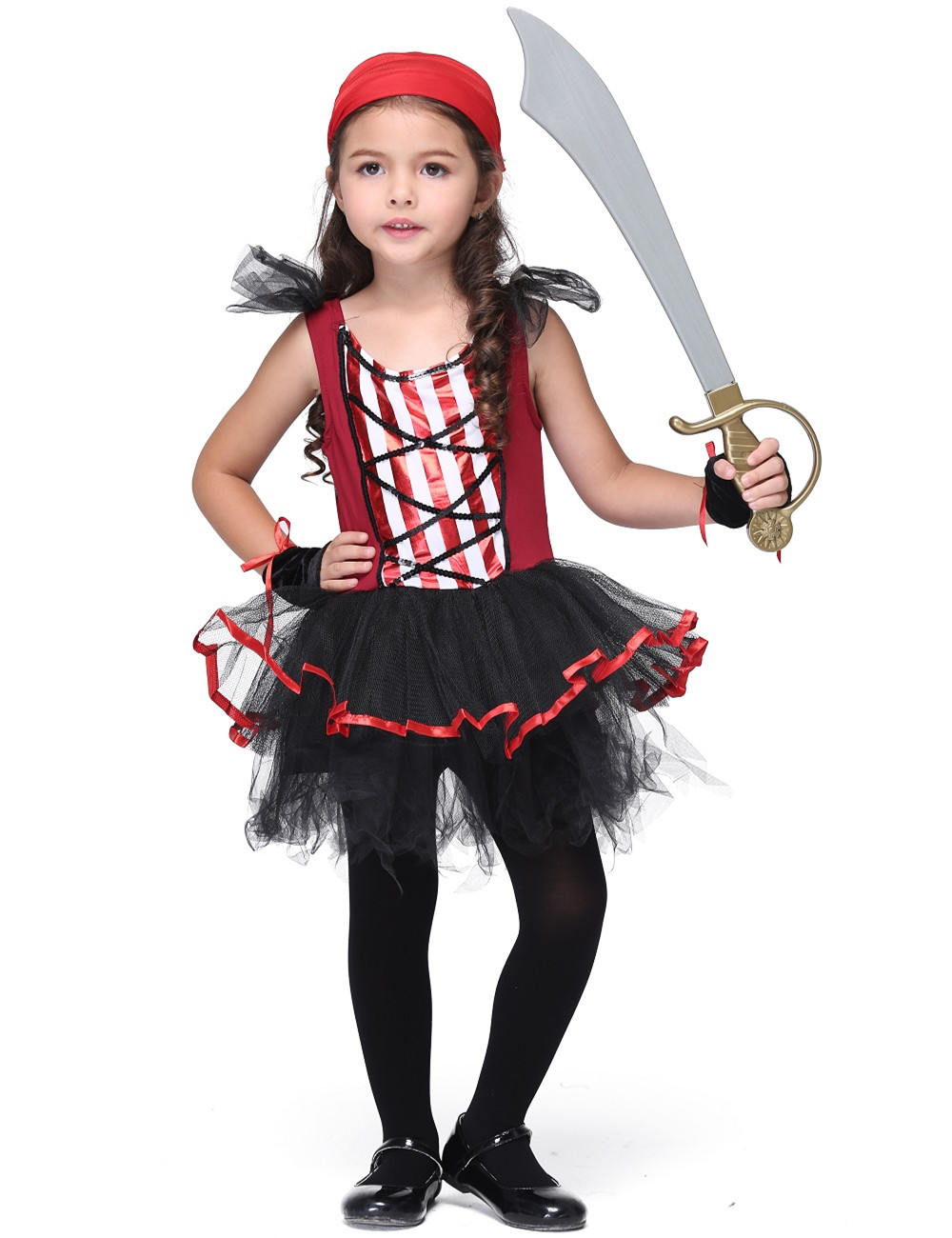 Pirate Stage Costume Halloween Costume for Kids Girl Performance Dancewear Dress Toddler Party Cosplay Stage Skirt