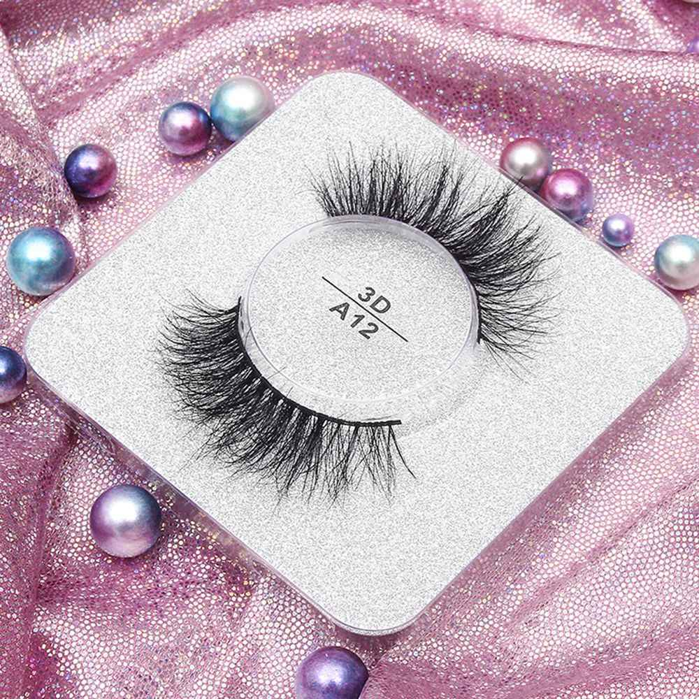 ce5a4db072f 1Pair 3D Siberia Handmade Thick Long Lashes Soft Mink Hair False Eyelashes  Fluffy Wispy Eyelashes Extension
