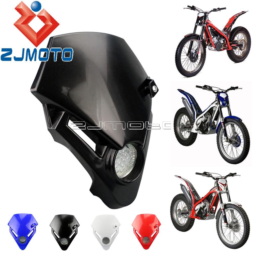 Universal Black Motorcycle LED Headlight Dual Sport Dirt Bike Custom Headlamp For GAS GAS TXT PRO 280 125